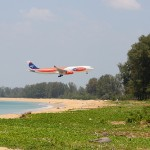 Phuket International Airport Landing