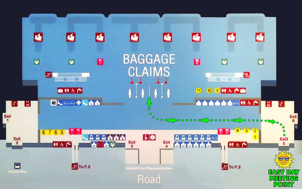 Phuket International Airport - Arrival Hall Map